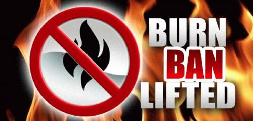 Fire Ban Now Lifted